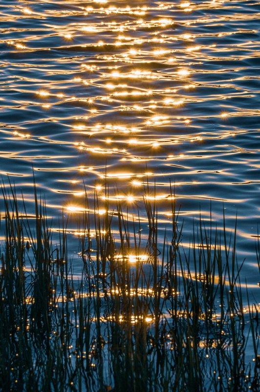 Закатные блики на озереphoto preview