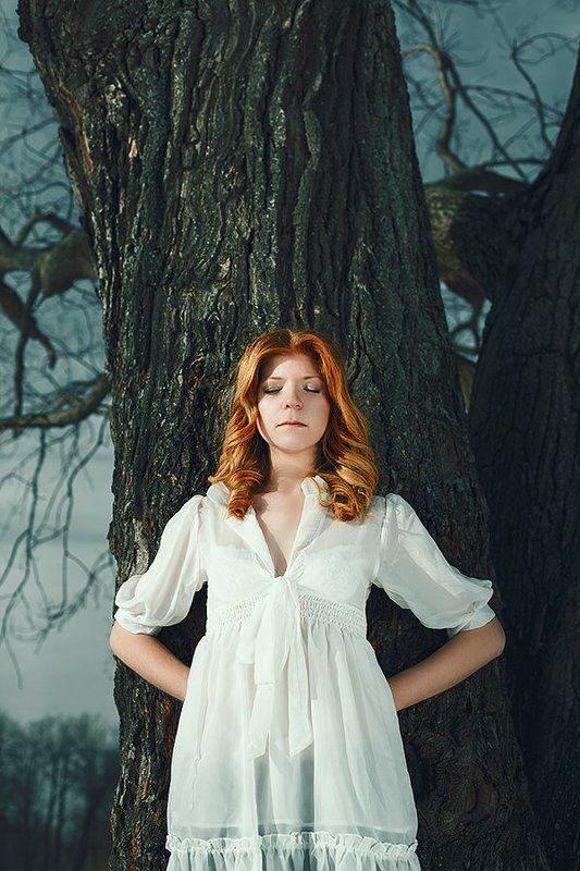 девушка, лес, сказка, тишина, красота, загадочность, мистика Silencephoto preview