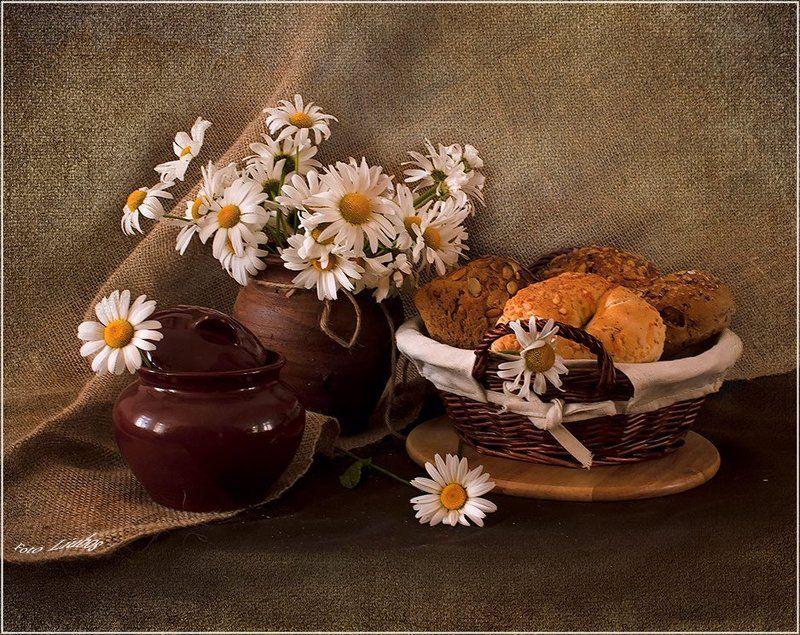 foto liubos, натюрморт, ромашки Ромашки к завтраку...photo preview