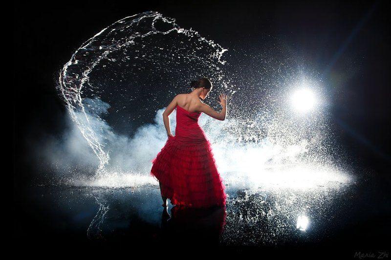 aqua, water, flash, drops, flamenco into the nightphoto preview