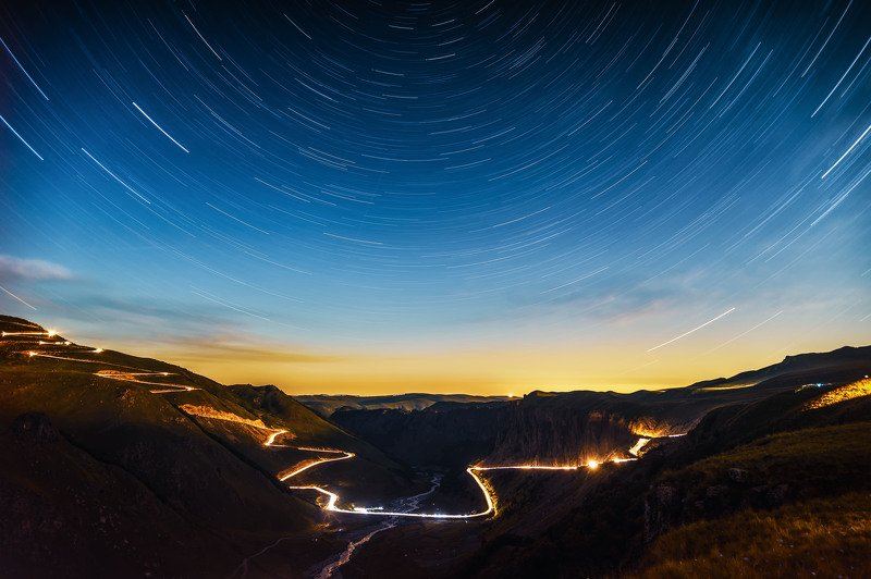mountains summer elbrus gorge  landscape nature night longexposure Time.photo preview
