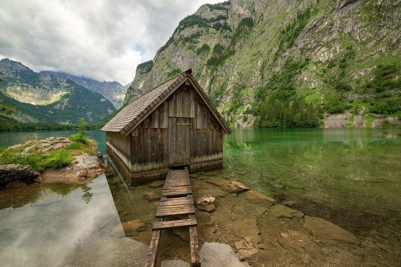 австрия, альпы, горы, озеро photo preview