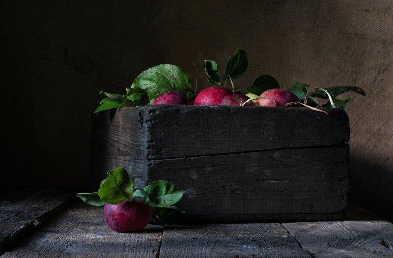 яблоки, сарай, дача Натюрморт с яблокамиphoto preview