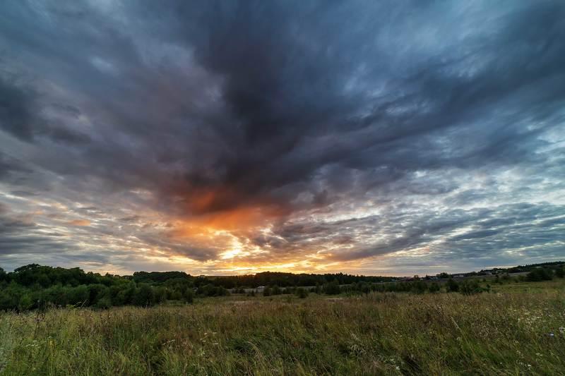 природа,пейзаж,небо,закат Мистический закатphoto preview