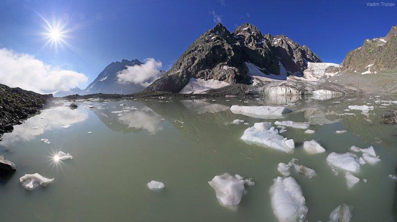 аманауз, кавказ, ледник Ледниковое озероphoto preview