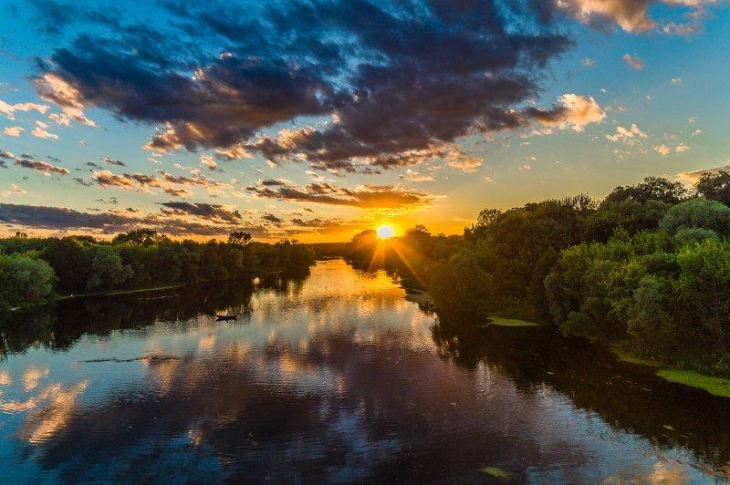 Закат на реке Сеймphoto preview