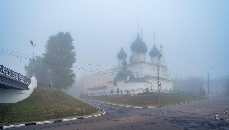 туман, утро, церковь photo preview