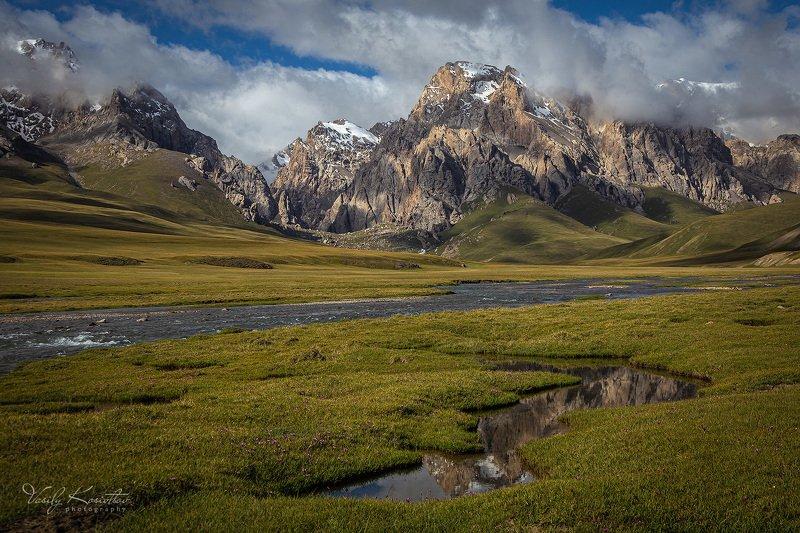 кыргызстан, внутренний тянь-шань, западный кокшаал-тоо, отрог сарыбелеc на краю земли... Кыргызскойphoto preview