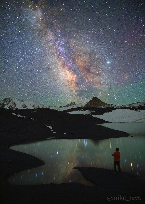 ночь эльбрус ночной пейзаж астрофотография звезды созвездия To stand and starephoto preview