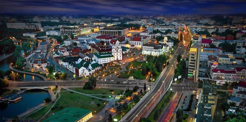 беларусь, город, минск, вечер, фотосфера-минск Игрушечный городок маленькой, но гордой страныphoto preview