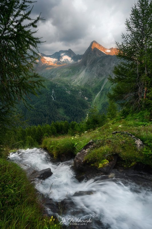 alps, mountains, mountain, sunset, creek, stream, river, green, contrast, landscape, amazing, amazing view, Alpsphoto preview