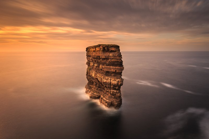 longe exposure, longexposure, sunrise, sunset, Ireland, landscapes, seascapes Dun Bristephoto preview