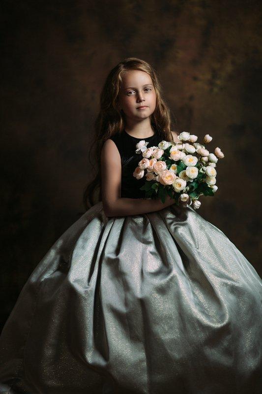 девочка, портрет, кудри, волосы, girl, portrait, hair, цветы, flowers Alisaphoto preview