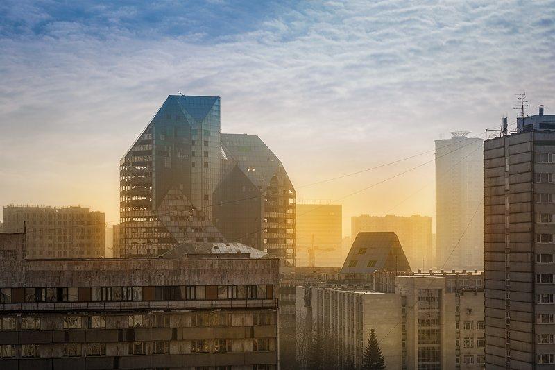 зенит, пейзаж, заброшенки, urbex Туманное утро на Юго-Западе Москывphoto preview