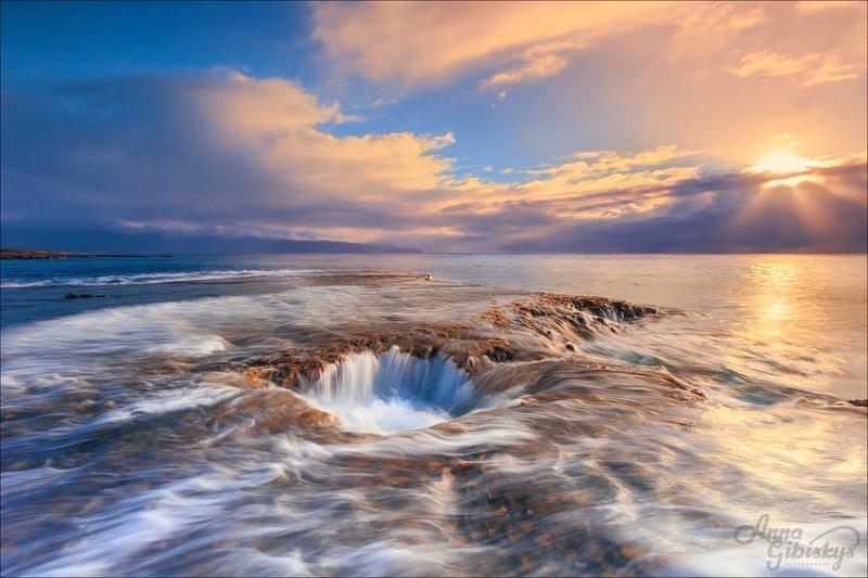 гавайи, оаху, остров, морской пейзаж, фототур, пшишылны, океан Подводные пещерыphoto preview