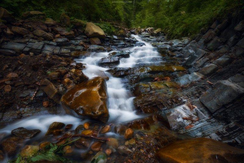 ручей, поток, камни, горы, поход, природа, карпаты, лес photo preview