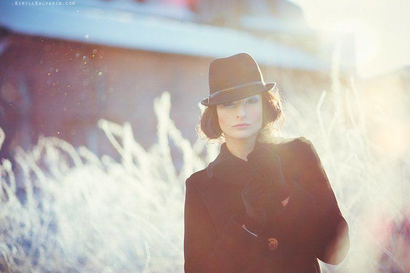 иней, зима, девушка, портрет, мороз Frostphoto preview