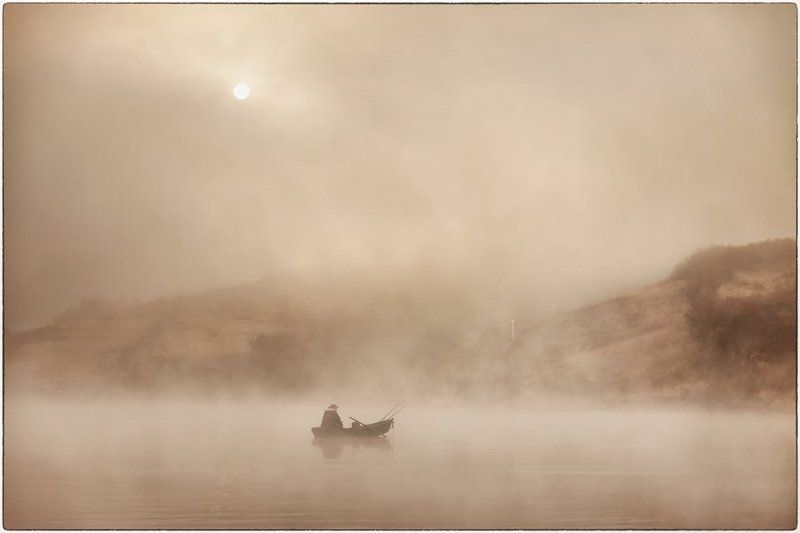 fog and fishermanphoto preview