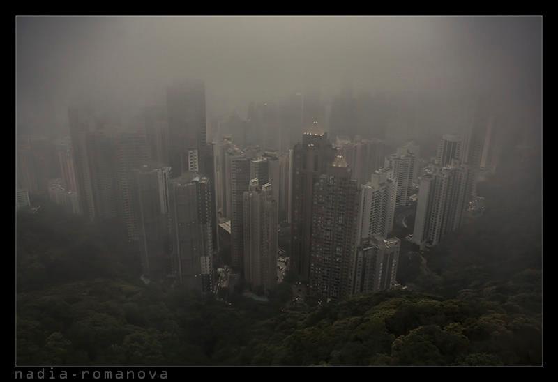 fog, hongkong, city, urban fogphoto preview