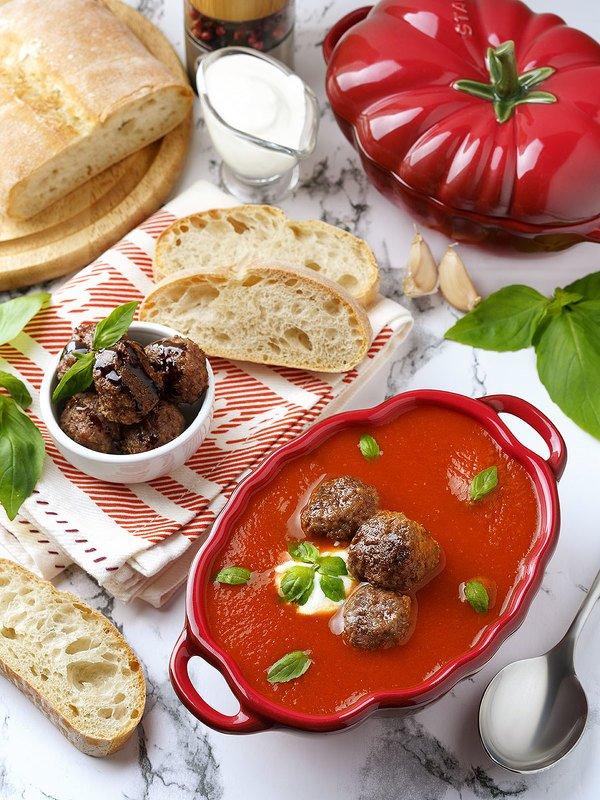 фудфотография, фудфото, еда, суп, раскладка, flatley Томатный супphoto preview