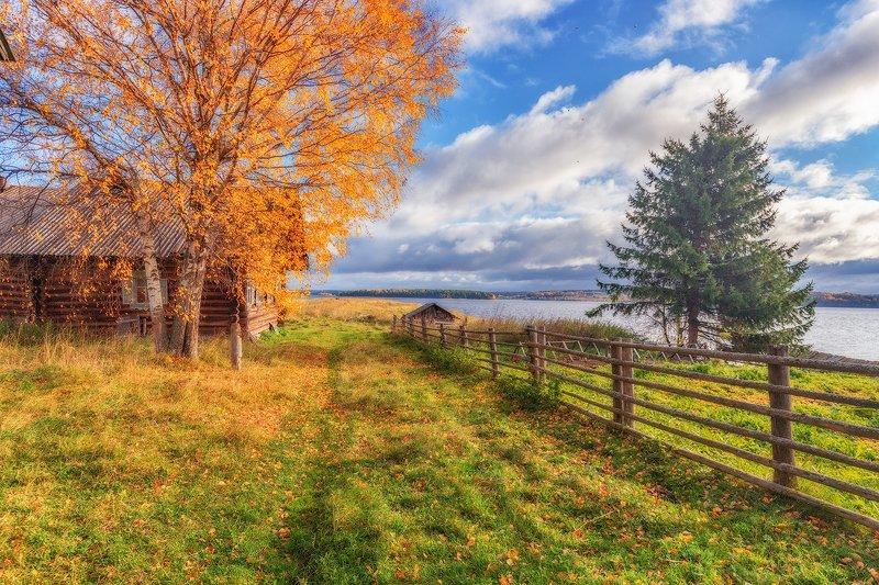 кенозерье, осень, деревня Осень в Кеозерьеphoto preview