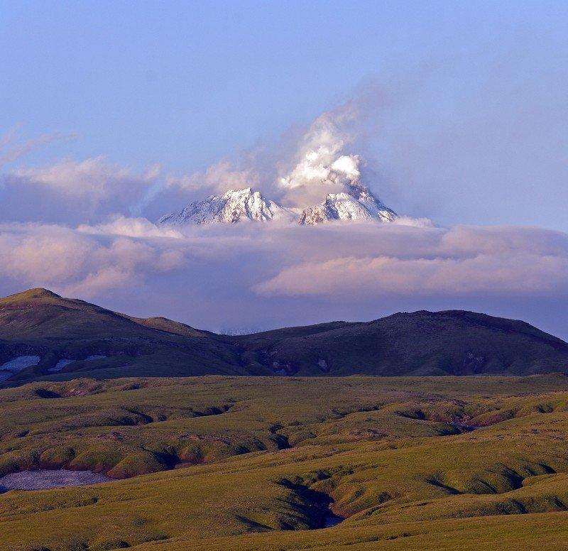 вулкан, безымянный, извержение, камчатка, пейзаж Извержение вулкана Безымянный. Камчатка.photo preview