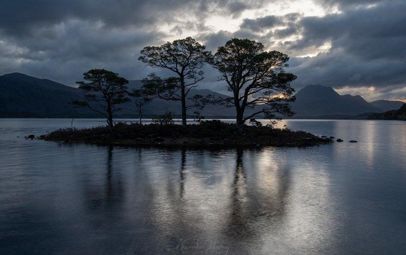 loch maree, scotland The Trinity Islandphoto preview