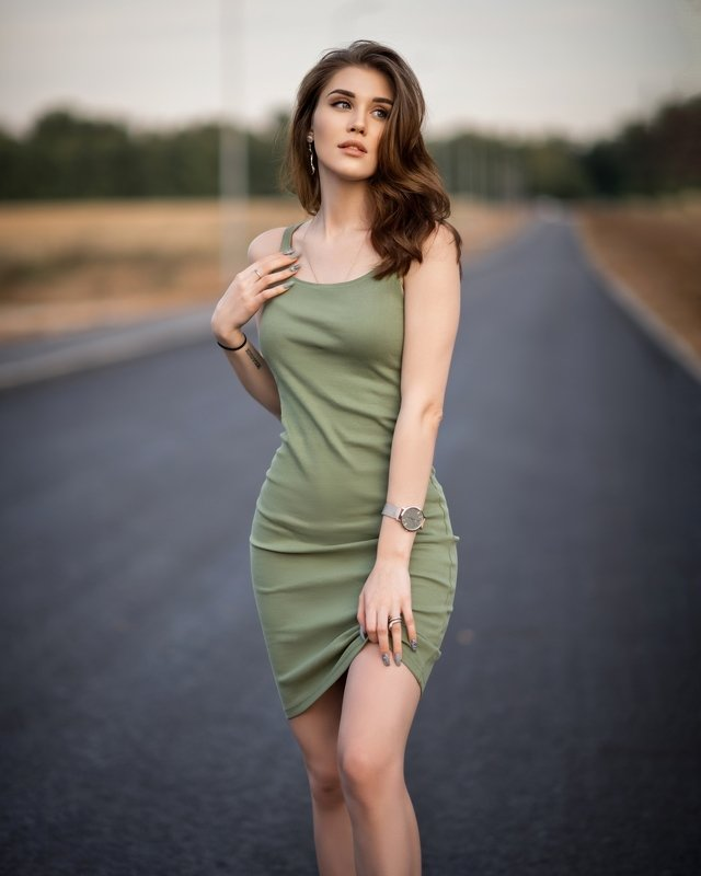People, Female, Beautiful Woman, Fashion, Dress, Portrait, One Person, Lifestyles, Beauty, Outdoors, Woman, One Woman Only, Adult, Портрет, Женский портрет, Девушка Асяphoto preview
