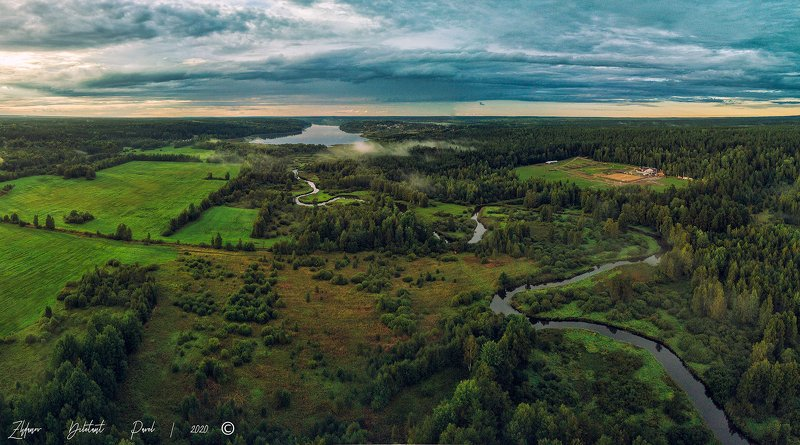 Река Петлянка и оз.Красавица панорама.photo preview