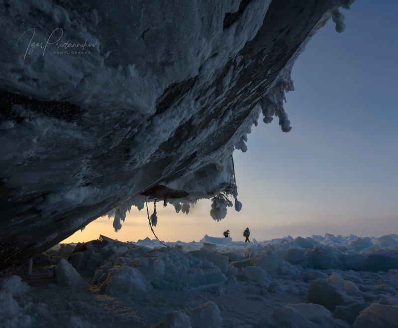 лед, арктика, ледовитый океан, путешественники, ледокол, mosaic В полярных льдахphoto preview