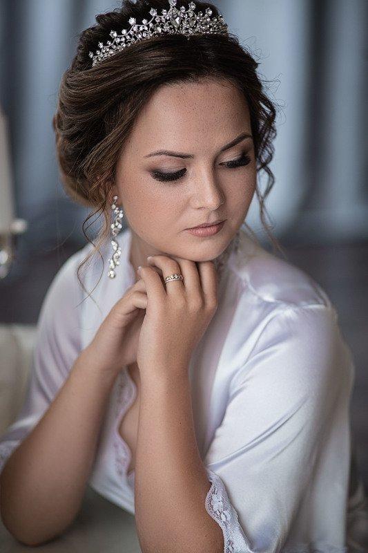 свадьба, свадебная фотосессия,  невеста, свадебное платье, счастье, любовь, портрет, утро невесты, студия, фотосессия, bride, wedding, love, happy, dress, wedding dress Невеста Викторияphoto preview