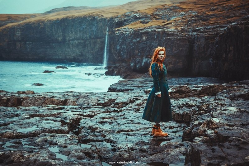 Ginger, ocean, portrait, redhead, woman, model, lady, wild, wind, rain, storm, mood, Ginger Stormphoto preview