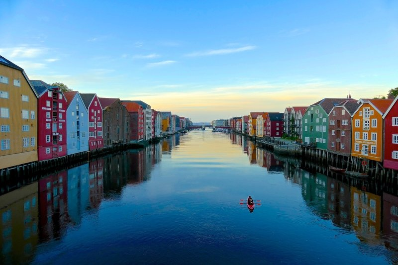 architecture, Trondheim, Norway, colorful, houses, Nidelva, mood, nature, cityscape, reflection, City for twophoto preview