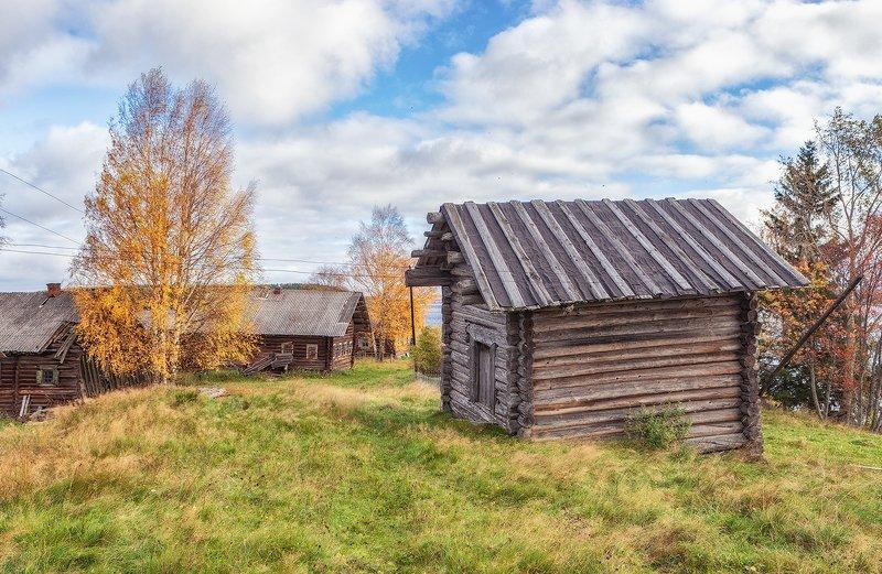 кенозерье, осень, деревня photo preview