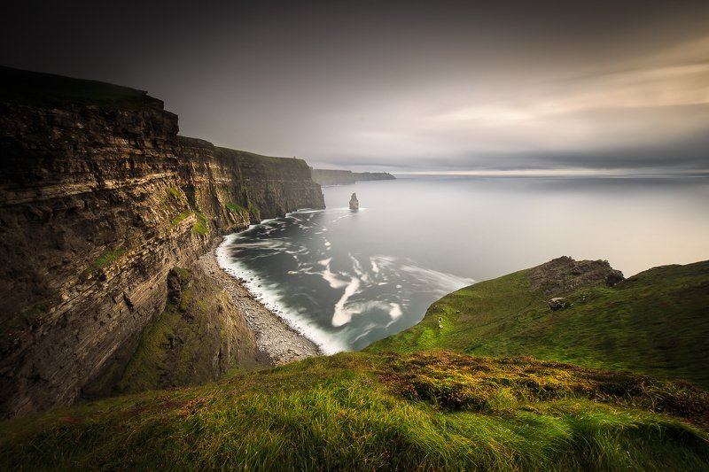ireland, sunset, sunrise, fog, clouds, longexposure, long exposue, seascapes, rain, Cliffs of Moherphoto preview