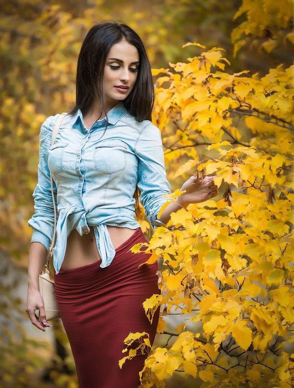 девушка, портрет, осень Аннаphoto preview