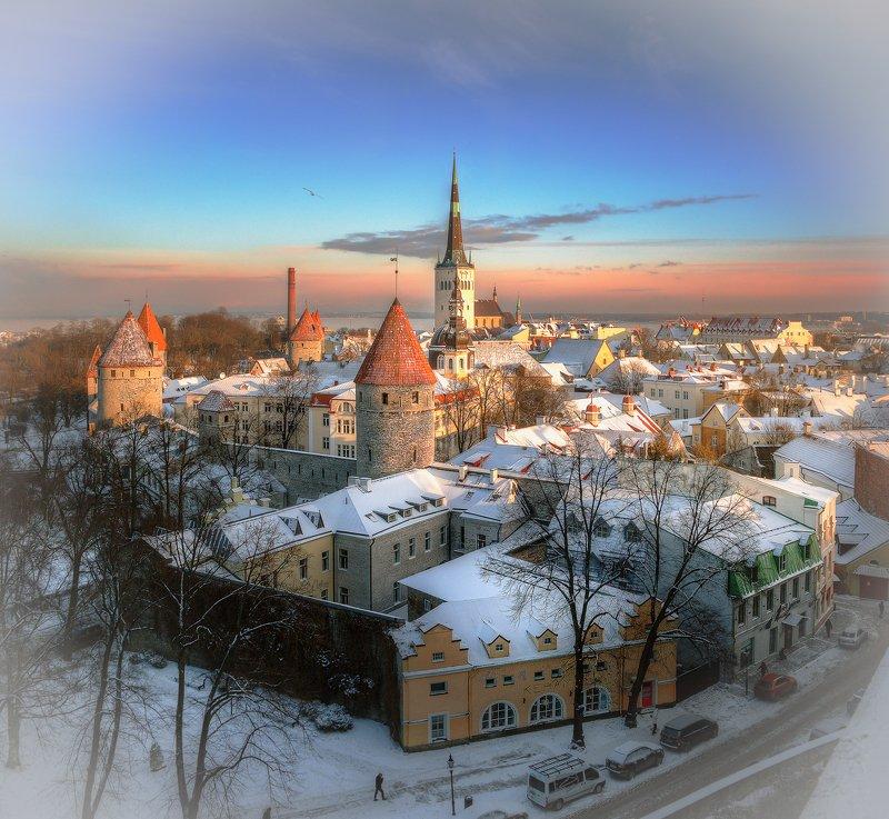 Зимнее утро в Таллинеphoto preview