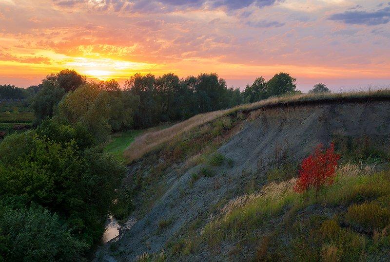 осень, закат Закат...photo preview