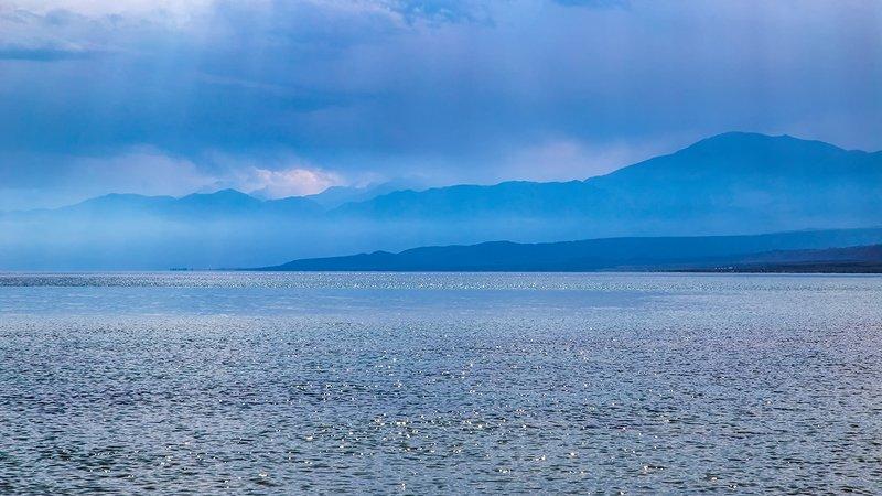 кыргызстан, горы, иссык-куль Голубая вуаль сентябряphoto preview