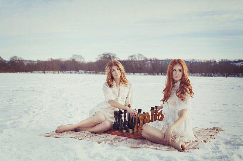 девушка, сказка, природа, шахматы, красота, портрет Chessphoto preview