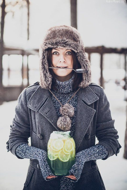 portrait, girl, winter. lemon Настяphoto preview