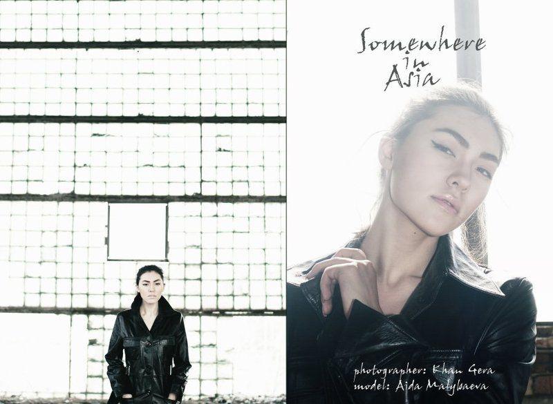 портрет, азиатка, здание, день, свет, черты лица, portrait, asian, building, day, light, features Somewhere in Asia.photo preview