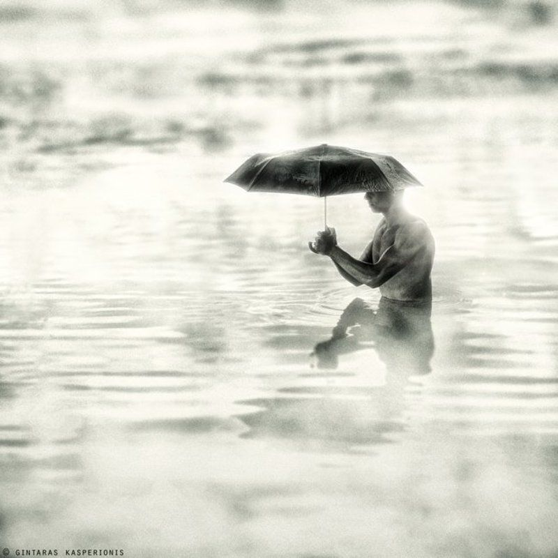 art, arts, artistic, fine, photography, foto, photo, modern, conceptual, feeling, emotion, square, 1x1, toned, gintaras, kasperionis, original, idea, gallery, pentax, contemporary, artwork, mono, man, boy, nude, umbrella, fog, lake, reflection Umbrellaphoto preview