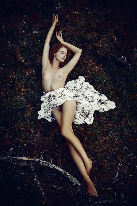 woman, portrait, nude, outdoors, naturallight Forest Dancephoto preview