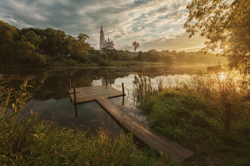 озеро, горы, лес, природа, закат, рассвет, красота, приключения, путешествие, облака, урал Закат на Ухтохмеphoto preview
