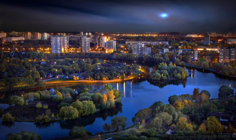 беларусь, минск, ночной-город-минск, фото-минск, фотосъёмка-интерьеров-минск, экстерьерная-фотосъемка, фото-вечерний-минск-с-высоты, интерьерная-фотосъёмка-минск, Живописная вечерняя городская панорамаphoto preview