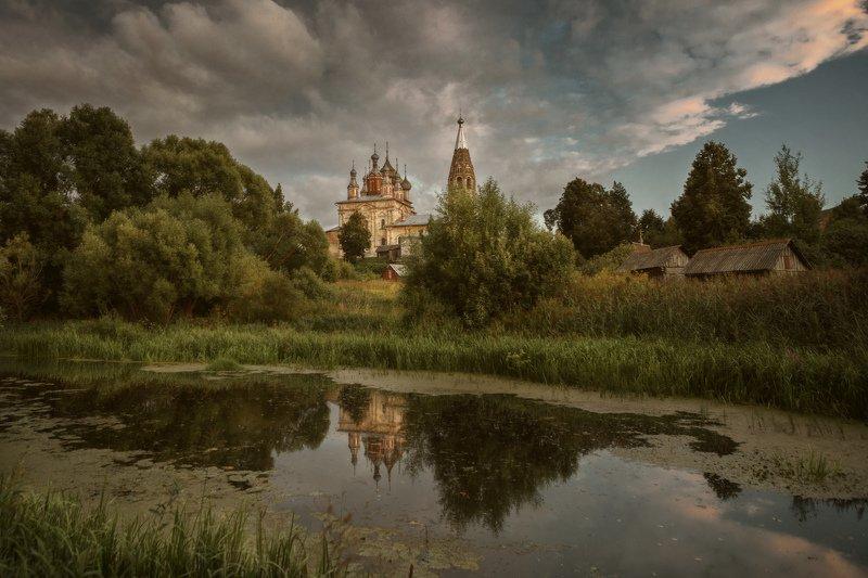 озеро, горы, лес, природа, закат, рассвет, красота, приключения, путешествие Закат  в селе Парское.photo preview