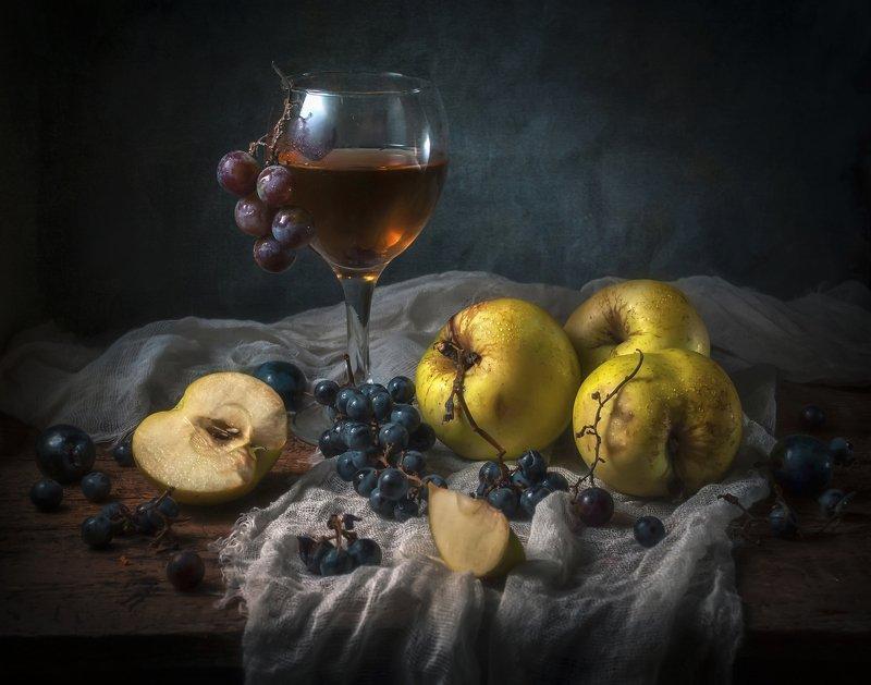 яблоки,осень,вино,виноград,прохлада,плоды,бокал Антоновские яблоки !photo preview