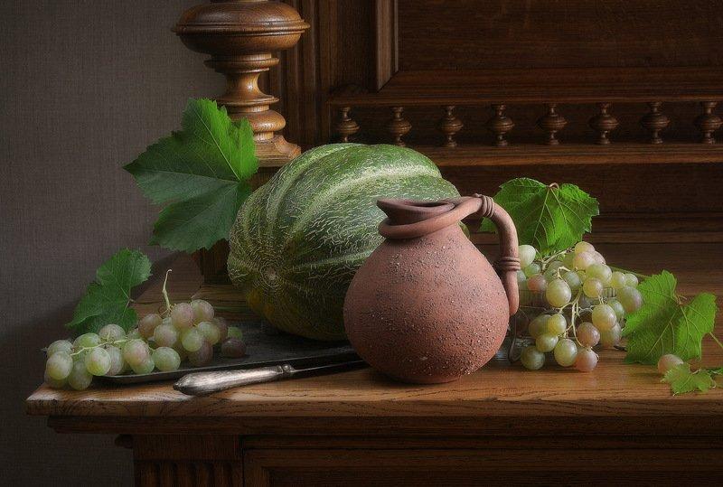 сергей алексеев, натюрморт Натюрморт с малиновым виномphoto preview