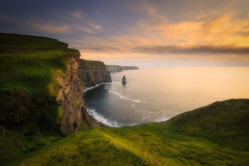 Cliffs of Moher, Ireland, seascapes, landscaspes, long exposure, longexposure, sunrise, sunset, fog Cliffs of Moherphoto preview
